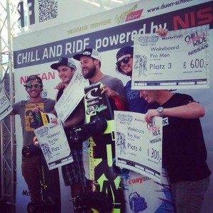 Chill and Ride podium