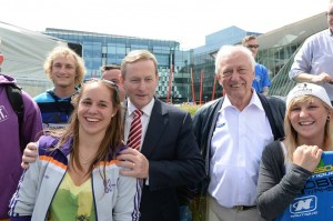 Enda Kenny at wakeboarding demos